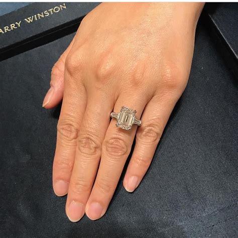 harry winston emerald cut engagement ring wedding