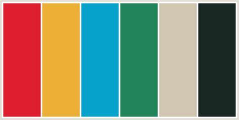 aztec colors colorcombo430 with hex colors dd1e2f ebb035 06a2cb
