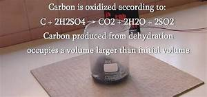 How to Make charcoal (carbon) by the dehydration of sugar ...