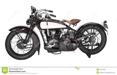 Vintage Motorcycles : Vintage Motorcycle Stock Photo