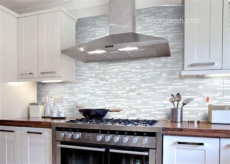 elegant white marble glass kitchen backsplash tile