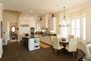 Love the kitchen whose light fixture is over