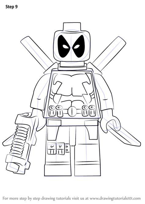 learn   draw lego deadpool lego step  step