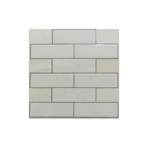 kitchen wall tile sticktiles 10 5 in x 10 5 in white subway peel and stick 3459