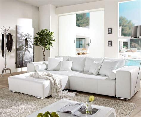 big sofa marbeya 290x110cm weiss mit schlaffunktion m 246 bel sofas big sofas
