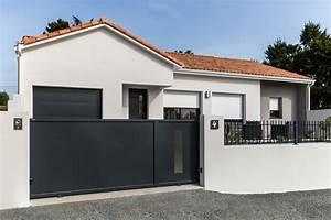 Portail De Garage Coulissant : portail coulissant garage ~ Edinachiropracticcenter.com Idées de Décoration