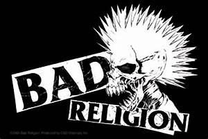 Bad Religion Mohawk Skull Sticker