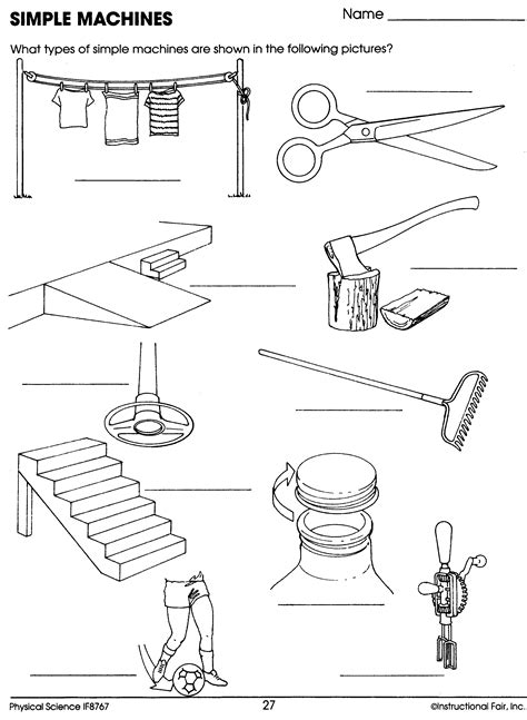 Simple Machines Worksheet  Homeschool Science  Simple Machine Projects, Science Lessons