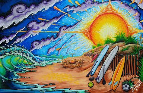 painting drew brophy surf lifestyle art