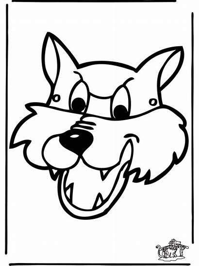 Mask Masker Masque Paper Wolf Chien Coloriage