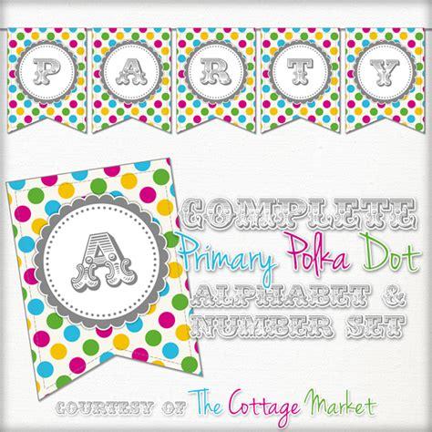 printable pink cherry banner set  cottage market