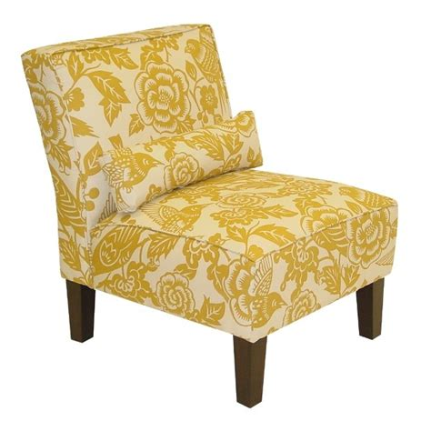 target canary print slipper chair client 1 yellow