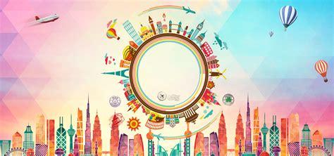 world travel poster banner travel play