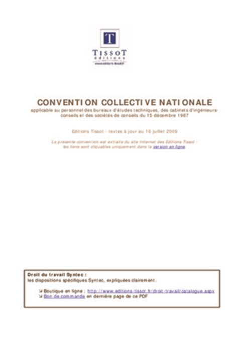 convention collective nationale des bureaux d udes techniques convention collective nationale reseau cerfrance du 25