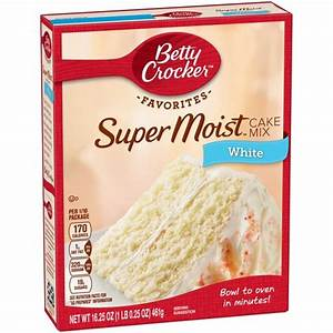 Betty Crocker SuperMoist White Cake Mix-18.25 oz : Target