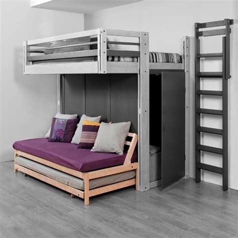 photo lit mezzanine 2 places avec canape lit id 233 es novatrices de la conception et du mobilier