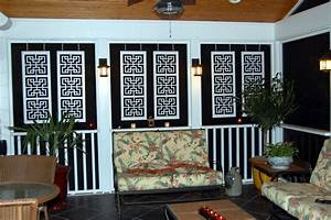 Hanging, Outdoor, Porch, Paneling