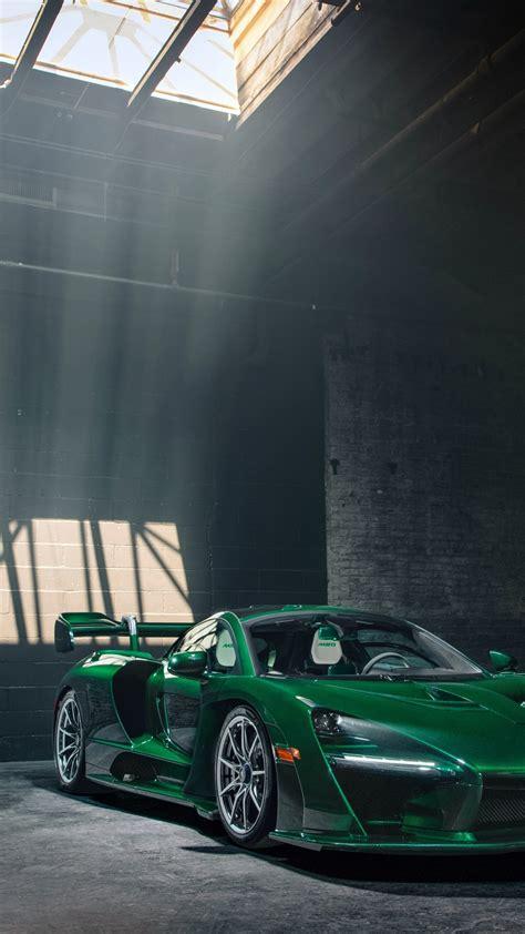 wallpaper mclaren senna gtr green carbon supercar