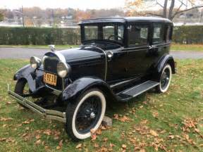 Ford 1929 Model A Town Sedan Briggs Restored Black Leather