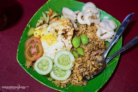 jakarta cuisine nasi goreng petai stink bean fried rice at mangga besar