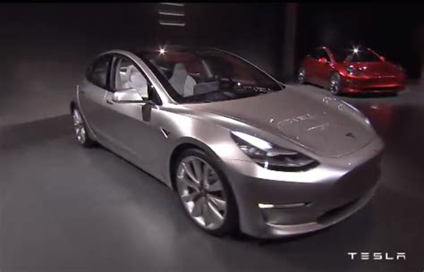 tesla model  officially revealed performancedrive