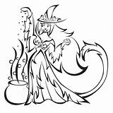 Witch Coloring Pages Halloween Wicked Witches Drawing Colouring Broom Tigress Colour Printable Couldron West Deviantart Ii Getdrawings Popular Disimpan Dari sketch template