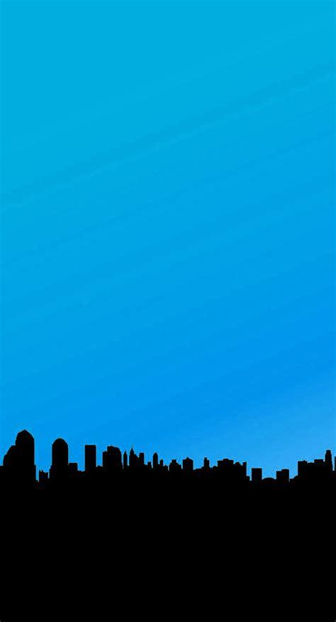 minimalist city blue aesthetic phone wallpaper fisoloji