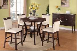Dining Table Chair Measurements of Modern 5Pc Dining Set Counter Height Dining Table Chair High Chairs Dining Room