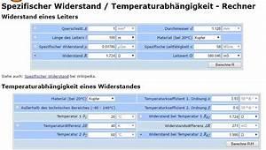 Temperaturänderung Berechnen : leitungswiderstand elektronik ~ Themetempest.com Abrechnung