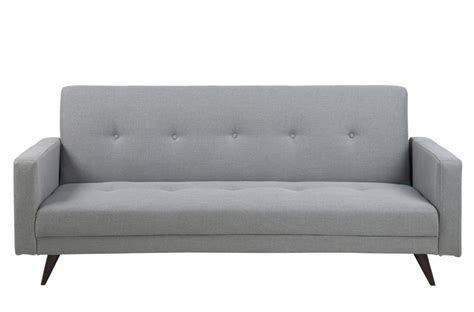 canapé lit 3 places en tissu de qualité lexon gris clair