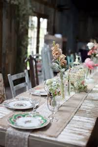 Shabby Chic Rustic Wedding Table Decorations