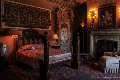 hearst castle the bedrooms broken window photography