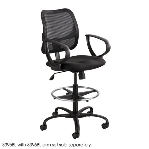 extended height office chair with arms vue extended height mesh chair safco products