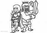 Clash Royale Coloring Archer Pages Barbarian Printable Clipart Clipartmag Drawings Adults sketch template