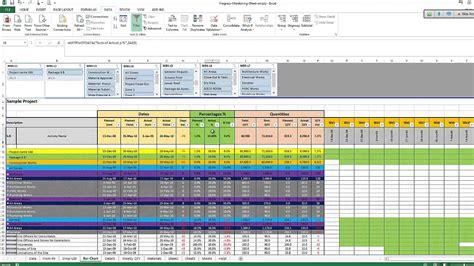 monitoring  controlling excel sheet  primavera