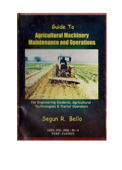 guide  agricultural machinery maintenance