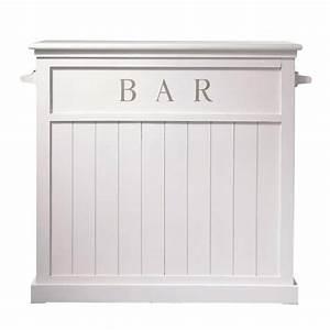 Meuble Bar Maison Du Monde : meuble de bar en pin blanc l 120 cm newport maisons du monde ~ Nature-et-papiers.com Idées de Décoration