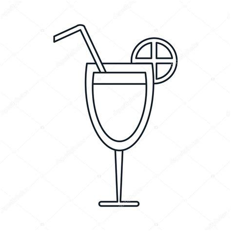 Disegni Bicchieri by Bicchiere Da Isolato Con Disegno Arancione