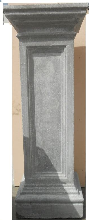 ringhiera in cemento eshop colonna in cemento grigio per ancoraggio ringhiera