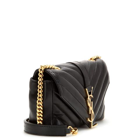 lyst saint laurent classic monogramme quilted leather shoulder bag  black