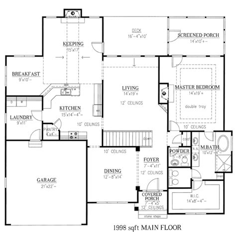 ranch style house plan bed bath car garage house plans basement house