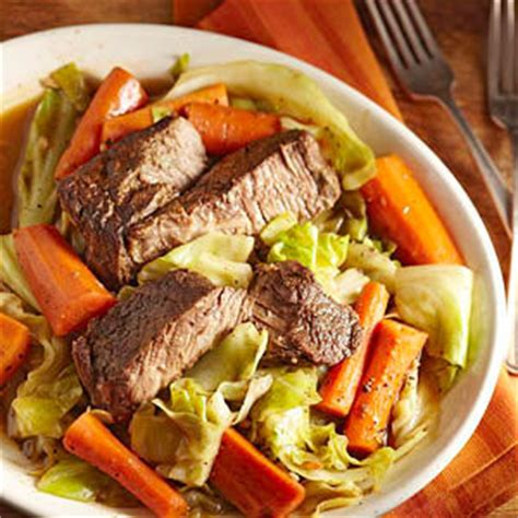 slow cooked beef  carrots  cabbage diabetic