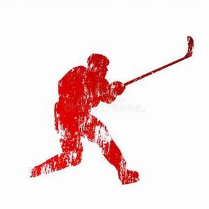 Shooting Abstract Hockey Player Stock Vector ...