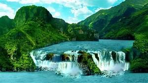 HD Hintergrundbilder berge wasserfälle flüsse tropisch