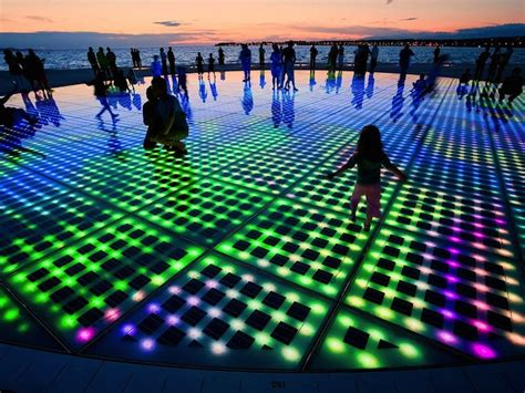 city park water and light installation is here at croatia s solar powered interactive light installation Inspirational