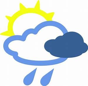 Sun And Rain Weather Symbols Clip Art at Clker.com ...