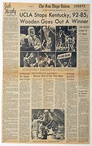 Memories of John Wooden, The Sports Arena and the 1975 ...