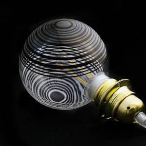 Ampoule Led Decorative : ampoule modulaire d corative led g125 blanc cercles blancs et noirs 5w e27 dimmable 2700k ~ Teatrodelosmanantiales.com Idées de Décoration