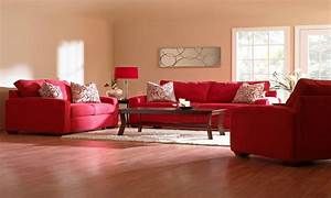 red rug beige couch, Comfortable Living Room Decorating ...