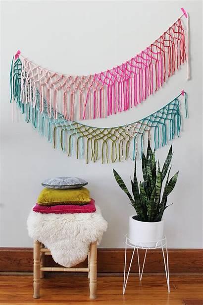 Wall Macrame Hanging Patterns Diy Garland Diys